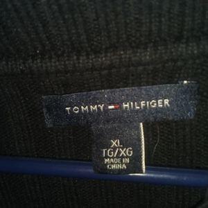 Tommy Hilfiger black zipper neck sweater